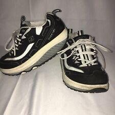 Skechers Shape Ups Walking Shoes Black White Womens Size 7.5 11809