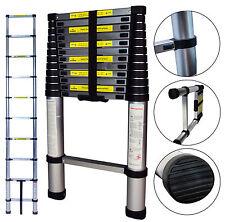 Teleskopleiter Aluleiter Leiter Mehrzweckleiter Anlegeleiter Stehleiter 3,80 m
