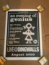 Marillion Tour Poster - Steve Hogarth - Ice Cream Genius - Dingwalls 2000