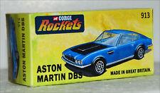 CUSTOM MADE DISPLAY BOX ONLY FOR CORGI ROCKETS 913 ASTON MARTIN DBS MET BLUE