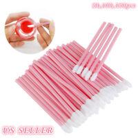 50 100 150x Disposable Lip Brush Set Gloss Lipstick Wands Applicator Makeup Tool