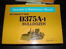 Komatsu D375A-1 OPERATION MAINTENANCE MANUAL BULLDOZER DOZER OPERATOR GUIDE BOOK