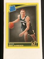 2018-19 Donruss Rated Rookie #164 Donte DiVincenzo YELLOW FLOOD RC CENTERED MINT