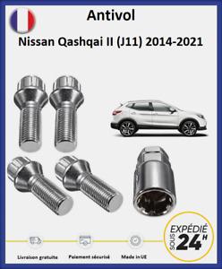 Écrous antivol de roues Nissan Qashqai 2 (J11) 2014-2021