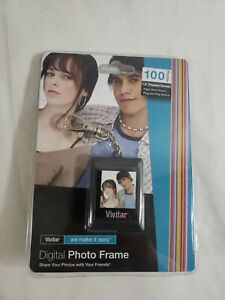 "Vivitar DPF14BLACK 1.5"" Digital Photo Frame Keychain Size SEALED"