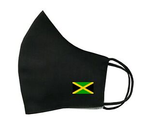 Jamaican Flag Face Mask Protective Covering Washable Reusable Breathable Jamaica