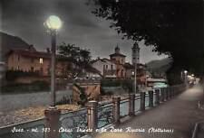 Cartolina Susa Corso Trieste e Dora Riparia notturno