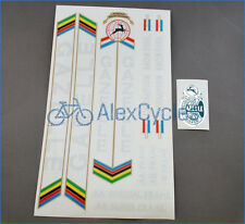 Vintage Rare Black GAZELLE Restoration Decals Kit + Gift Stickers