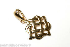9ct Gold Celtic Pendant no chain Gift Boxed Made in UK