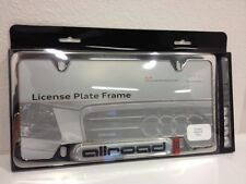 AUDI LICENSE PLATE FRAME ALLROAD POLISHED STAINLESS