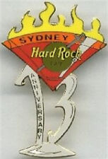 Hard Rock Cafe SYDNEY 2002 13th Anniversary Olympic Torch PIN Flaming Martini
