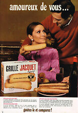 PUBLICITE ADVERTISING 014   1968   JACQUET  pain grillé biscottes
