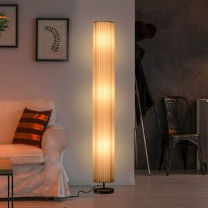 Free Standing Floor Lamp, 20Lx20Wx160H cm-White/Silver