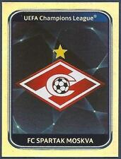 PANINI UEFA CHAMPIONS LEAGUE 2010-11- #379-SPARTAK MOSCOW TEAM BADGE-SILVER FOIL
