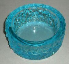Studio Art Glass Blue Bark Effect Bowl Vase Whitefriars? Dartington? RETRO