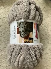 mainstays chenille chunky yarn taupe splash 31 yds