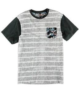 Silver Lake Mens Tweed Stripe Pocket Graphic T-Shirt, Black, Small