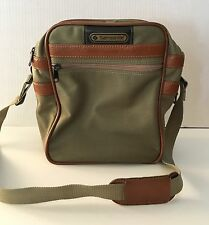 Classic Samsonite Luggage Olive Khaki Canvas Shoulder Bag Carry On