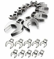 GENUINE Craftsman Crowfoot Wrench Sets: 10 SAE, 10 MM, or 20 Pc Inch & Metric
