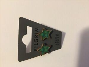 CHRISTMAS Pilgrim Skandeborg Denmark  Star Earrings with enamel