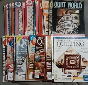 VTG 26 QUILTING Magazines Quilt World Traditional Quilter's Newsletter Patchwork