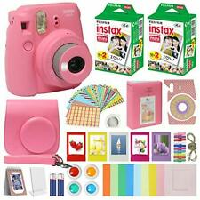 Instax Mini 9 Instant Kids Camera Flamingo Pink + Fuji Instax Film Value Pack