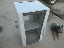 1 Used Rittal IT Solutions Computer Network Cabinet w/Glass Door, Lockable a