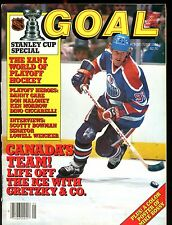 NHL Goal Magazine May/June 1984 Wayne Gretzky EX w/ML 012717jhe