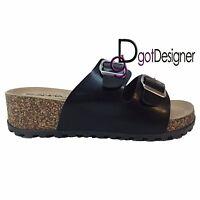 New Women's Straps Footbed Sandals Buckle Thong Flip Flop Platform Casual Shoes