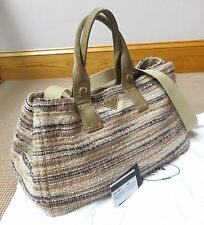 PRADA Handbag Tweed Suede Bag -100% Authentic with Cards