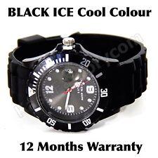 ICE COOL BLACK COLOUR WATCH UNISEX LADIES MENS CHILDREN SILICONE WRIST WATCH!!