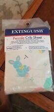 Vintage Percale Crib Sheet No Iron Toys Bunnies