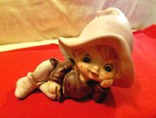 Homco #5213 Cute Pixie Elf in Brown Outfit Figurine