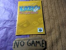 Kirby 64: The Crystal Shards (Nintendo 64, 2000) Just Manual No game