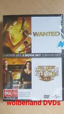 Wanted / Death Race [2 DVD Set] NEW & SEALED, Region 4, FREE Next Day Post