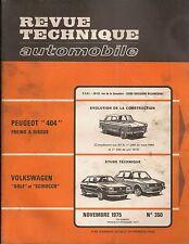 REVUE TECHNIQUE AUTOMOBILE 350 RTA 1975 VOLKSWAGEN GOLF & SIROCCO PEUGEOT 404