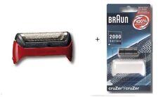 Braun Scherblatt + Klingenblock, Farbe rot zu Braun Rasierer CruZer2, CruZer3