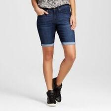 2d53bf86636 Mossimo Women s Mid-Rise Bermuda Midnight Sky Dark Wash Jean Shorts Size 18  NWT