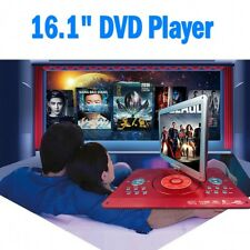 """16.1"""" Portable DVD In Car Player 270° Swivel Screen Charger USB Rechargeable  GB"""