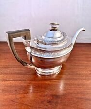 THOMAS LAW GEORGIAN c.1806 ENGLISH STERLING SILVER DECORATED TEAPOT 519G