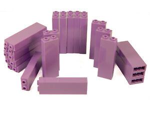 LEGO bricks 1x2x5 x20 panels  LAVENDER lilac pillar column walls castle +