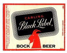 1950s CARLING BREWING CO, FRANKENMUTH, MICHIGAN BLACK LABEL BOCK BEER LABEL