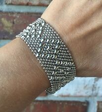 BRAND NEW AUTHENTIC Liquid Metal Sergio Gutierrez Mesh Snap Cuff Bracelet TB9