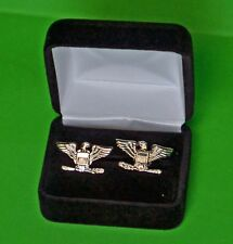 Colonel Cuff Links in Presentation - Gift Box Cufflinks - small 1 inch wide