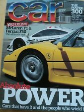 CAR MAGAZINE SEP 1997 MCLAREN F1 FERRARI F50 POWER 300 CHRYSLER BOSS DRIVERS F1