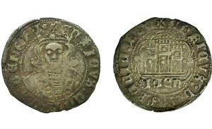 Spain- Enrique IV(1454-1474). Cuartillo. Jaen. MBC+/VF+ Cobre 2,9 g. Bonita