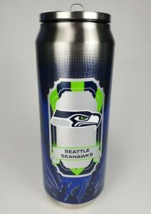 Duck House Sports Seattle Seahawks Thermo Can Cup Mug Tumbler 16.9 oz Hot & Cold
