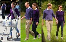 Ralph Lauren Black label bleu Cachemire pull sweater slim fit Sz L Large
