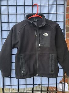 Boys Medium The NORTH Face Fleece Black Zip Up