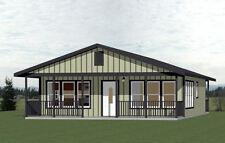 28x34 House -- 2 Bedroom 2 Bath -- 952 sq ft -- PDF Floor Plan -- Model 1C